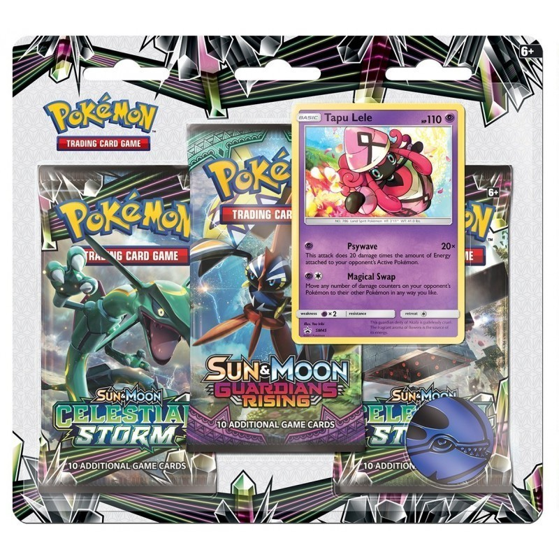 Pokemon TCG: Sun & Moon 7 Celestial Storm - 3 Pack Blister (Tapu Lele)