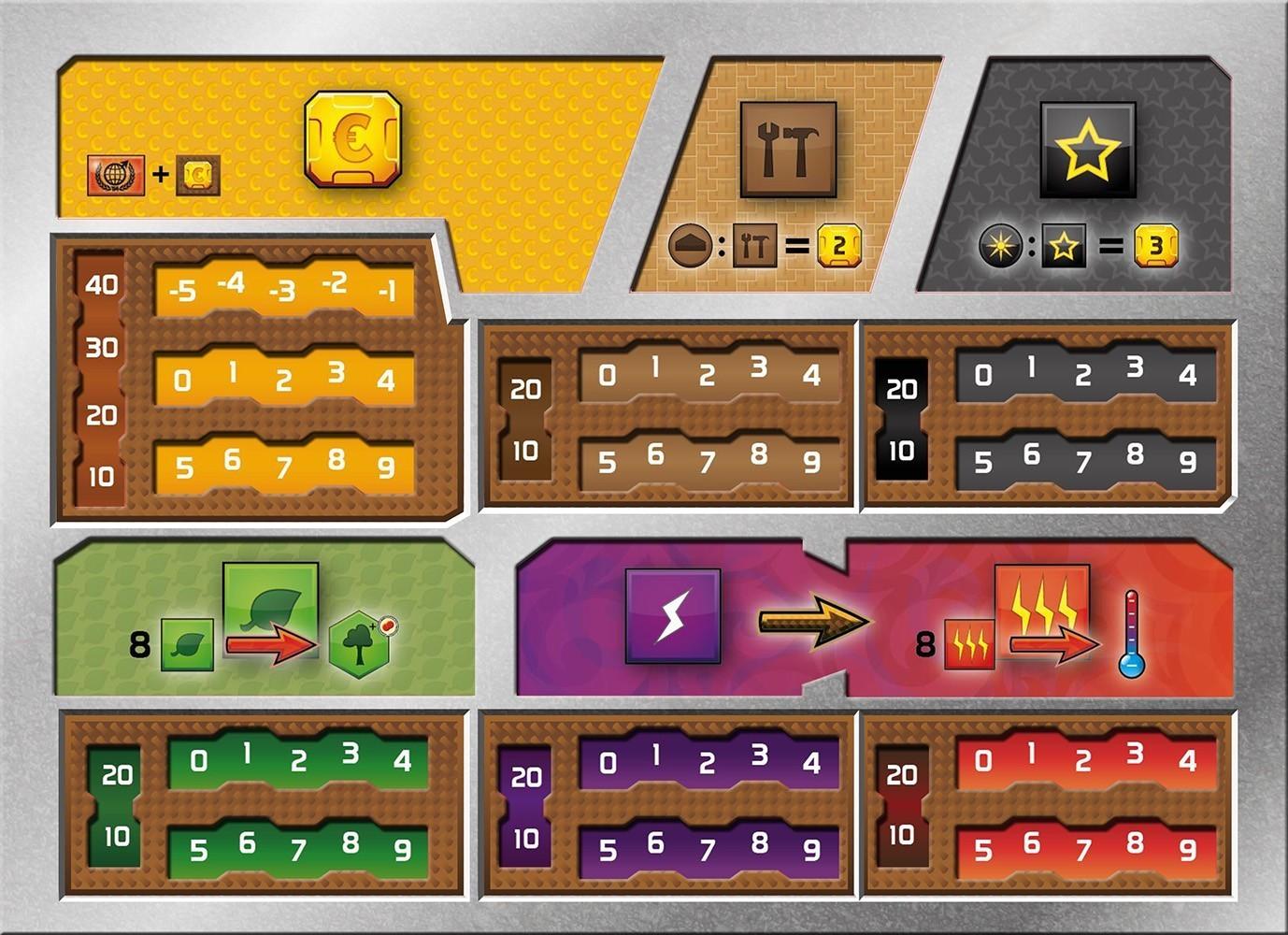 Terraformacja Marsa - Zestaw 5 plansz graczy (przedsprzedaż)
