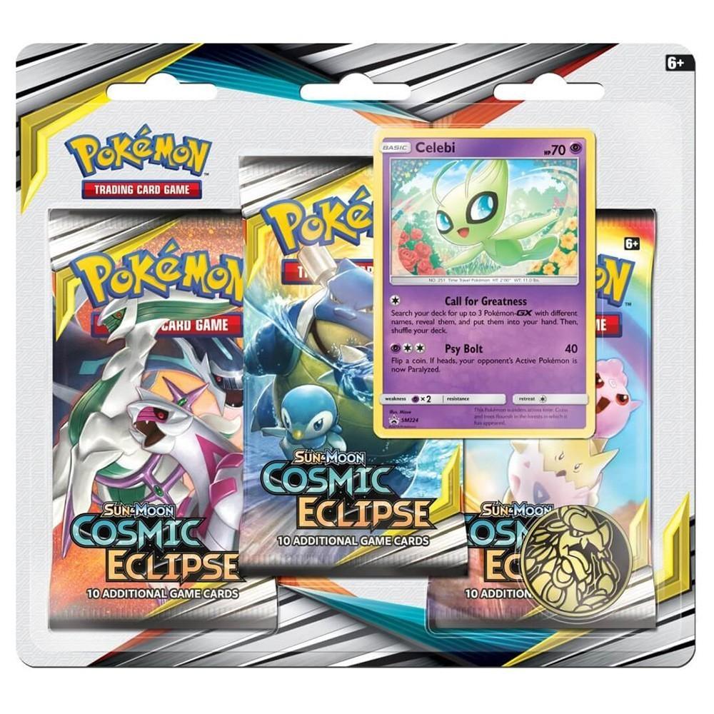 Pokemon TCG: S&M 12 Cosmic Eclipse 3-Pak (Celebi)