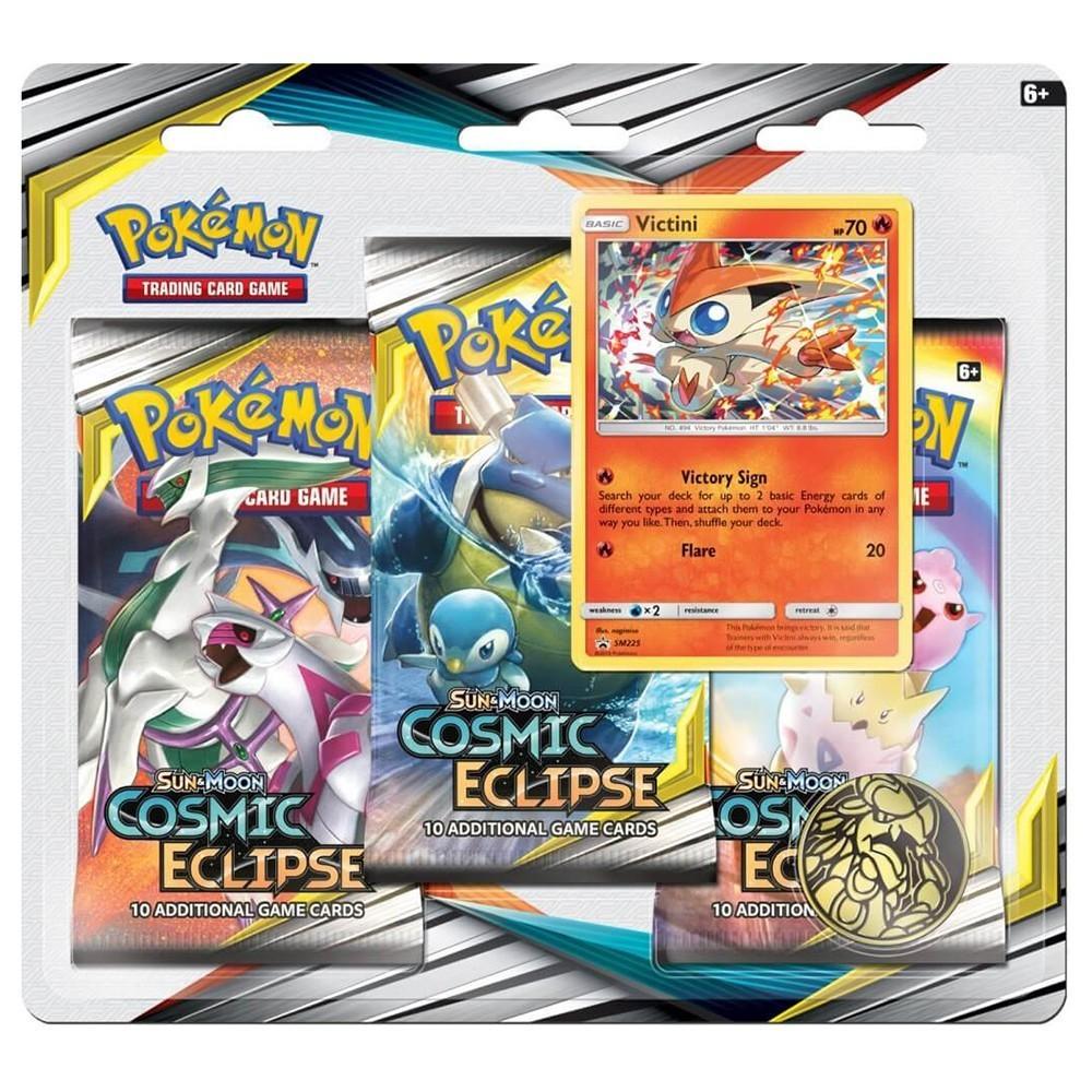 Pokemon TCG: S&M 12 Cosmic Eclipse 3-Pak (Victini)