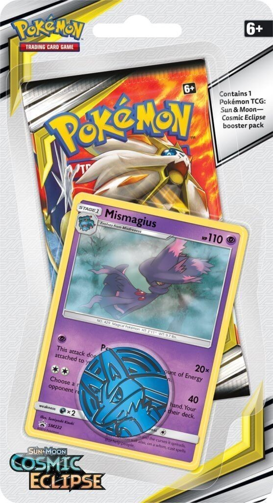 Pokemon TCG: S&M 12 Cosmic Eclipse Checklane Blister (Mismagius)