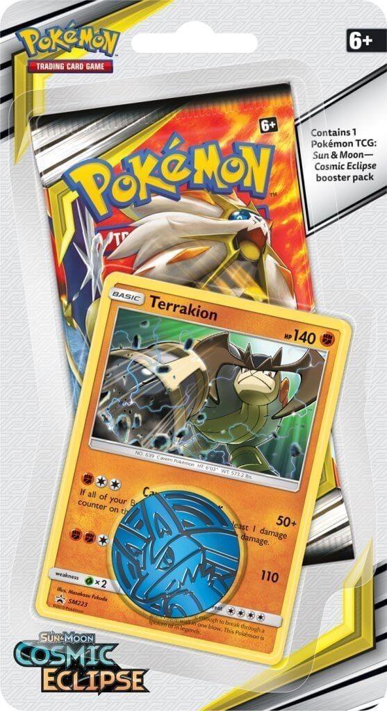 Pokemon TCG: S&M 12 Cosmic Eclipse Checklane Blister (Terrakion)