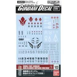 Gundam Decal 103 MS Gundam...