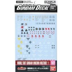 Gundam Decal 107 MS Gundam...