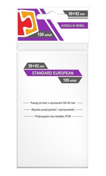 Koszulki Rebel (59x92) Standard European 100szt