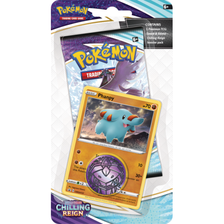 Pokemon TCG: Chilling Reign Checklane Blister (Phanpy) (przedsprzedaż)