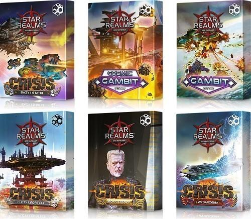 Star Realms Pakiet Gambit i Crisis + Zestaw Promo + Mata