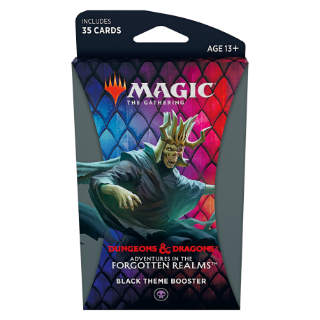 Magic The Gathering Adventures in the Forgotten Realms Black Theme Booster