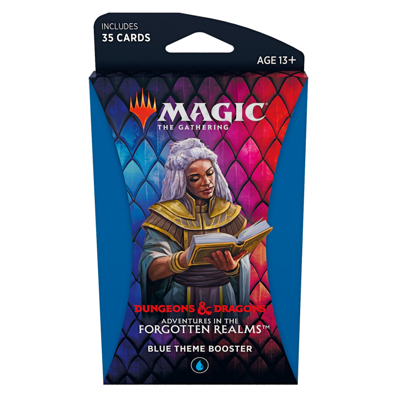 Magic The Gathering Adventures in the Forgotten Realms Blue Theme Booster