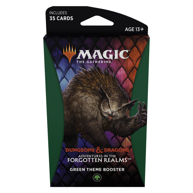 Magic The Gathering Adventures in the Forgotten Realms Green Theme Booster