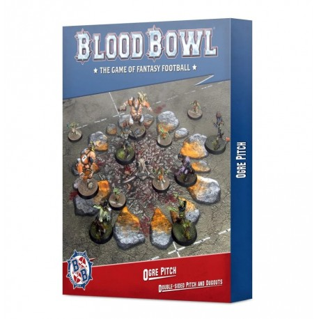 Blood Bowl: Ogre Pitch: Double-sided Pitch and Dugouts