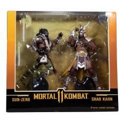 Mortal Kombat Action Figure 2-Pack Sub-Zero & Shao Khan 18 cm