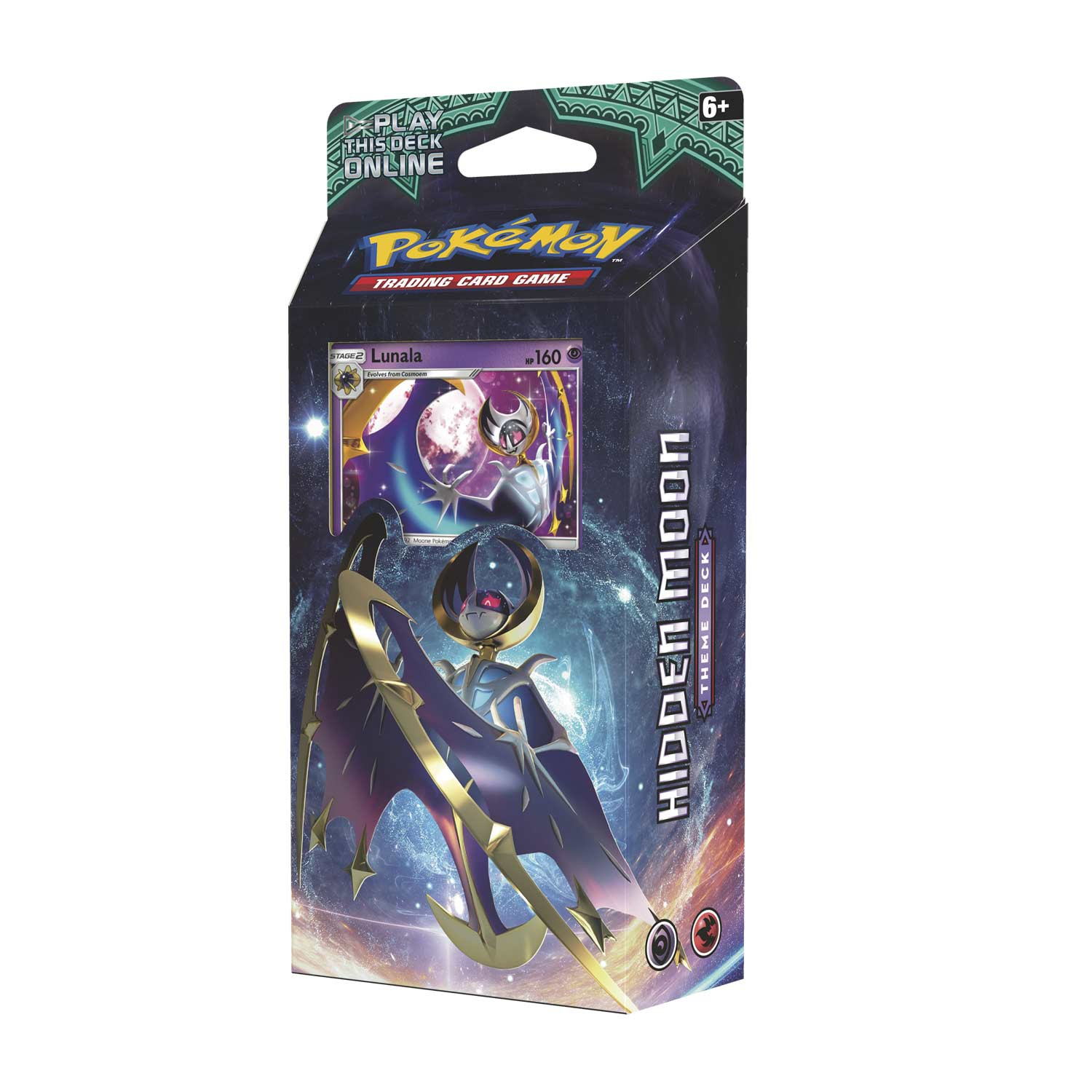 Pokemon TCG: Sun & Moon 2 Guardians Rising Hidden Moon Theme Deck (Lunala)