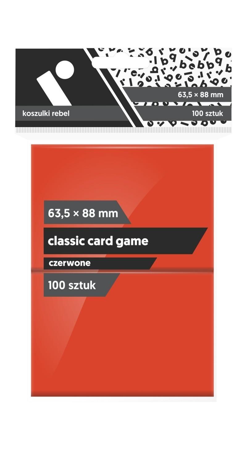 Koszulki Rebel (63,5x88) Classic Card Game 100 szt. - Czerwone
