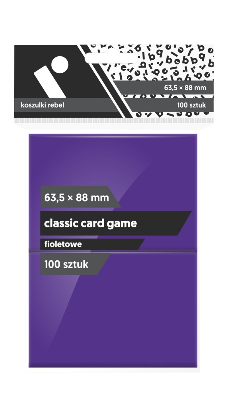 Koszulki Rebel (63,5x88) Classic Card Game 100 szt. - Fioletowe