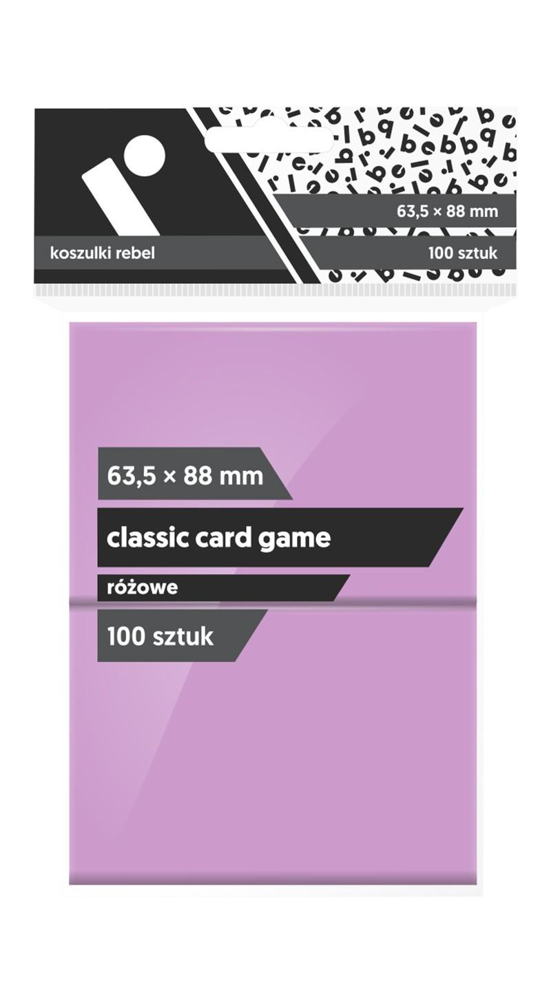 Koszulki Rebel (63,5x88) Classic Card Game 100 szt. - Różowe