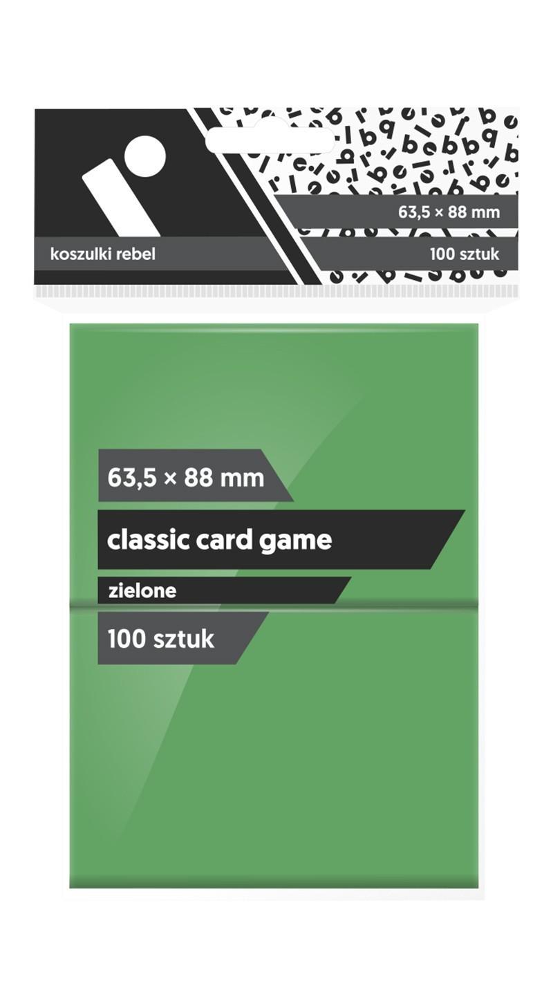Koszulki Rebel (63,5x88) Classic Card Game 100 szt. - Zielone